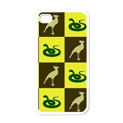 Bird And Snake Pattern Apple Iphone 4 Case (white)