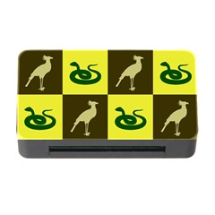 Bird And Snake Pattern Memory Card Reader with CF