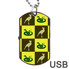 Bird And Snake Pattern Dog Tag USB Flash (Two Sides)