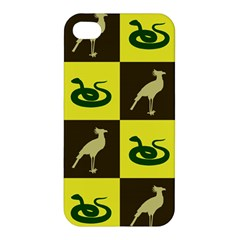 Bird And Snake Pattern Apple iPhone 4/4S Hardshell Case