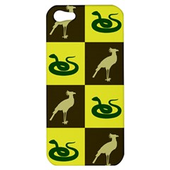 Bird And Snake Pattern Apple Iphone 5 Hardshell Case
