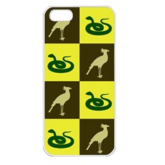 Bird And Snake Pattern Apple iPhone 5 Seamless Case (White)