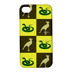 Bird And Snake Pattern Apple Iphone 4/4s Hardshell Case With Stand