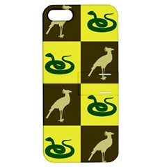 Bird And Snake Pattern Apple Iphone 5 Hardshell Case With Stand