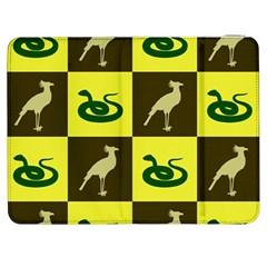 Bird And Snake Pattern Samsung Galaxy Tab 7  P1000 Flip Case