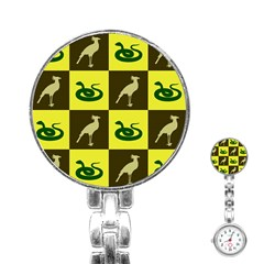 Bird And Snake Pattern Stainless Steel Nurses Watch