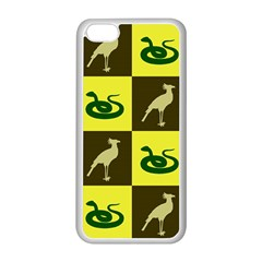 Bird And Snake Pattern Apple Iphone 5c Seamless Case (white)
