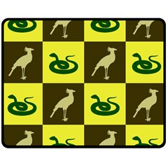Bird And Snake Pattern Double Sided Fleece Blanket (Medium)