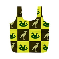Bird And Snake Pattern Full Print Recycle Bags (m)
