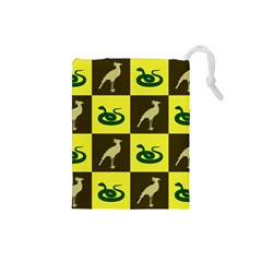 Bird And Snake Pattern Drawstring Pouches (small)