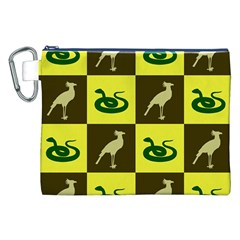 Bird And Snake Pattern Canvas Cosmetic Bag (xxl)