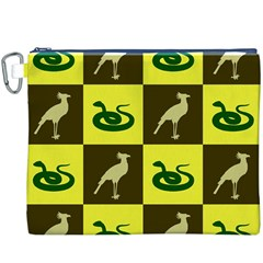 Bird And Snake Pattern Canvas Cosmetic Bag (XXXL)