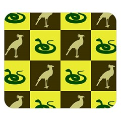 Bird And Snake Pattern Double Sided Flano Blanket (small)