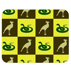 Bird And Snake Pattern Double Sided Flano Blanket (Medium)
