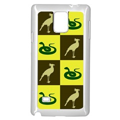 Bird And Snake Pattern Samsung Galaxy Note 4 Case (White)