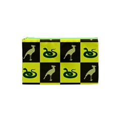 Bird And Snake Pattern Cosmetic Bag (xs)