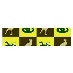 Bird And Snake Pattern Satin Scarf (Oblong)