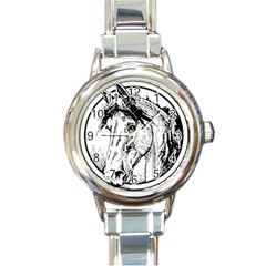 Framed Horse Round Italian Charm Watch