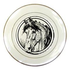 Framed Horse Porcelain Plates