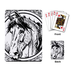 Framed Horse Playing Card