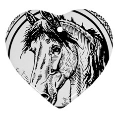 Framed Horse Heart Ornament (two Sides)
