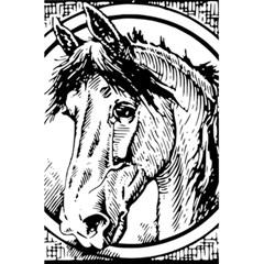 Framed Horse 5.5  x 8.5  Notebooks