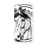 Framed Horse Apple iPhone 4 Case (White) Front