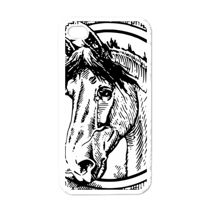 Framed Horse Apple iPhone 4 Case (White)