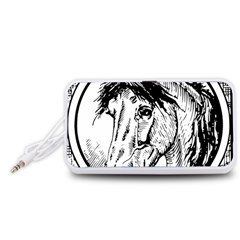 Framed Horse Portable Speaker (White)