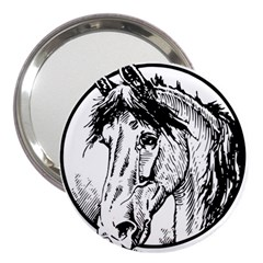 Framed Horse 3  Handbag Mirrors