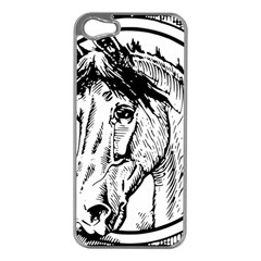 Framed Horse Apple Iphone 5 Case (silver)
