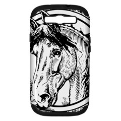 Framed Horse Samsung Galaxy S Iii Hardshell Case (pc+silicone)