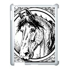 Framed Horse Apple iPad 3/4 Case (White)