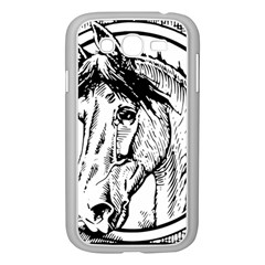 Framed Horse Samsung Galaxy Grand Duos I9082 Case (white)