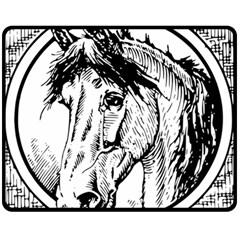Framed Horse Double Sided Fleece Blanket (medium)