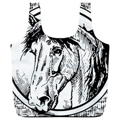 Framed Horse Full Print Recycle Bags (l)