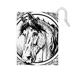 Framed Horse Drawstring Pouches (large)