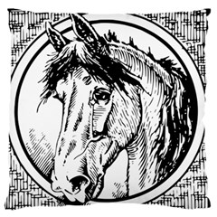 Framed Horse Standard Flano Cushion Case (Two Sides)