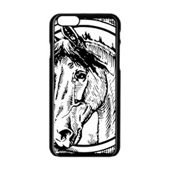 Framed Horse Apple Iphone 6/6s Black Enamel Case
