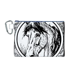 Framed Horse Canvas Cosmetic Bag (m)