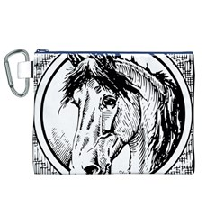 Framed Horse Canvas Cosmetic Bag (XL)