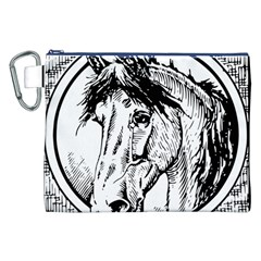 Framed Horse Canvas Cosmetic Bag (xxl)