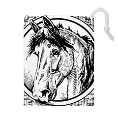 Framed Horse Drawstring Pouches (Extra Large)