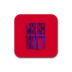 Funny Foggy Thing Rubber Square Coaster (4 pack)