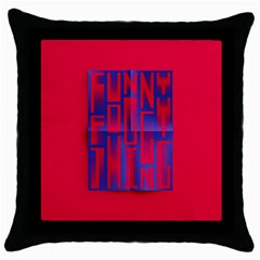 Funny Foggy Thing Throw Pillow Case (black)