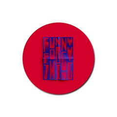 Funny Foggy Thing Rubber Coaster (round)