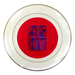Funny Foggy Thing Porcelain Plates