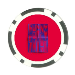 Funny Foggy Thing Poker Chip Card Guard