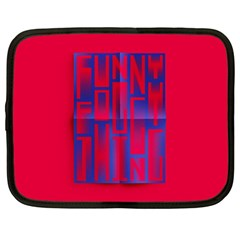 Funny Foggy Thing Netbook Case (Large)