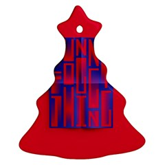 Funny Foggy Thing Christmas Tree Ornament (two Sides)